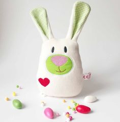 Kuschelhase // cuddly toy, stuffed animal bunny via DaWanda.com