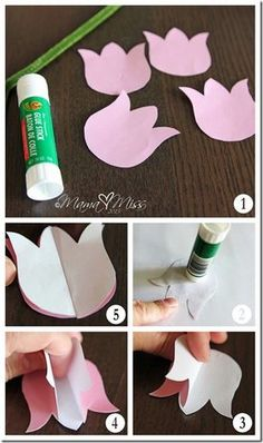 create kiddo: DIY Tulips Upcycled Vase and Printable - Mama Miss