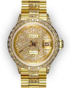 Ardour For Watches: Ladies' Pave Diamond Rolex Super Presidents