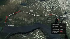 Map of Trolltunga summer hike, Norway