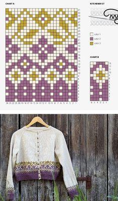 Fair Isle Knitting Patterns, Fair Isle Pattern, Knitting Charts, Sweater Knitting Patterns, Lace Knitting, Knitting Stitches, Knitting Designs, Knit Patterns, Knitting Socks