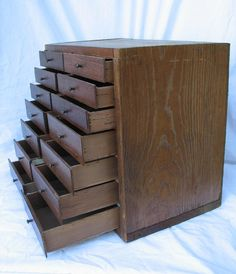 Vintage Chest of Drawers Handmade from Wood Cigar Boxes