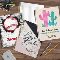 Personalized Unique School Notebooks Round Wooden Coffee Table, Rustic Coffee Tables, Pillow Inserts, Pillow Covers, Storing Books, School Notebooks, Leopard Spots, Cotton Velvet, Rustic Charm