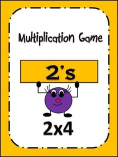 $2.00 Multiplication by 2 Game: Matching & Pattern Activity to help master facts