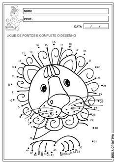 Matemática Infantil: Liga Pontos Animais Atividade Educação Infantil