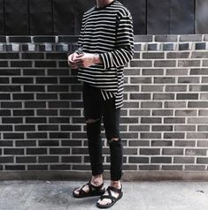 ideas clothes aesthetic male for 2019 - Clothes for Women Korean Outfits, New Outfits, Fashion Outfits, Fashion Trends, Casual Male Outfits, Korean Fashion Men, Mens Fashion, Estilo Hipster, Monochrome Fashion