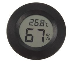 Lcd Mini Celsius Digital Thermometer Hygrometer Meter. Description :  HY Temperature Humidity Meter LCD Mini Celsius Digital Thermometer Hygrometer  This product display value by LCD Measuring Range: Temperature -50- 70(-58- 158) Humidity 10%-99%RH Measuring Accuracy: Temperature ±1(±2) Humidity ±5%RH Display Resolution : Temperature 0.1(0.2) Humidity 1%RH Operating Voltage: 1.5V, one button cell size  LR44  Specification:  Color: Black Dimension: 4.8x2.86x1.52cm LCD Dimension: 4.6x2.7cm…