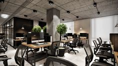 Office Design Corporate Workspaces is unquestionably important for your home. Whether you choose the Corporate Office Decorating Ideas or Office Design Corporate Workspaces, you will create the best Office Design Corporate Workspaces for your own life. Open Concept Office, Cool Office Space, Loft Office, Office Space Design, Workspace Design, Loft Design, Office Workspace, Office Designs, Corporate Interior Design