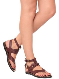 JUSTY LEATHER SANDALS