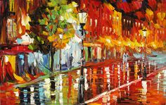 Oil Painting (Palette Knife) Cityscape
