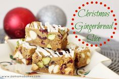 Christmas Gingerbread Slice