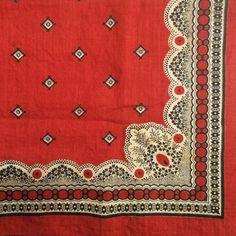 turkey red floral bandana (bandannawanderings)