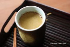 Dr. Sanjay Gupta's Calming Creamy Turmeric Tea.  He uses this as a healthy alternative to an evening cocktail to wind down.  He uses unsweetened almond milk, which is not pointed out in this recipe.