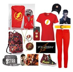 """the Flash- Barry Allen"" by kai-noel ❤ liked on Polyvore featuring J Brand, Dsquared2, Casetify and Bling Jewelry"