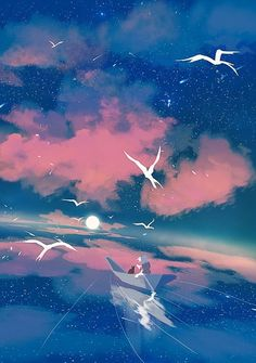 Inspirationally Sane By Art And Music : Photo Wallpaper Animes, Anime Scenery Wallpaper, Animes Wallpapers, Wallpaper Backgrounds, Photo Wallpaper, Fantasy Landscape, Landscape Art, Fantasy Art, Aesthetic Art