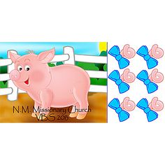 Personalized Pin the Tail on the Pig Game