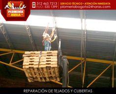 Trabajo en alturas - reparación de tejados
