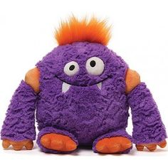 Another great Christmas gift idea! Tackle monster is purple, with orange claws, stuffed, soft toy monster from the Monsteroos range. He has large arms and fantastic googly eyes, with orange tuft of hair and fangs for teeth and is surface washable. The GUND® Monsteroos Tackle is 30.5cm in height and is suitable from Age 1+. http://www.laffkidsclothes.co.uk/index.php?route=product/product&path=64&product_id=243