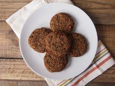Vegan Mushroom and Lentil Burgers -- minus the mushrooms, plus an egg or two