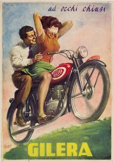 photos of vintage motorcycles | Vintage Motorcycle Poster, Vintage Bicycle Poster, French and Italian ...