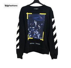 2682bd5ab0a8 OFF WHITE CARAVAGGIO CREWNECK SWEAT SHIRT - REPFASHIONS