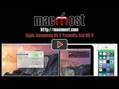 Apple Announces OS X Yosemite And iOS 8 (#1003)