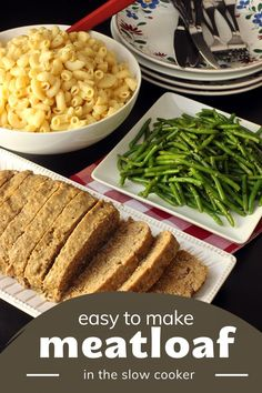 This easy-to-make, tender, and juicy meatloaf will become a family favorite. If you've never been a fan of meatloaf, you'll want to give this slow cooker version a try. (Even Randy from A Christmas Story would love it!) How To Cook Meatloaf, Easy Meatloaf, Meatloaf Recipes, Meatloaf With Breadcrumbs, Make Ahead Meals, Easy Meals, Slow Cooker Meatloaf, American Dinner, Onion Soup Mix