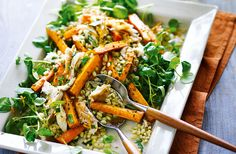 Perfect for an easy weeknight supper or filling lunch, this dish marries the flavours of nutty barley, roasted carrots and rich smoked mackerel, resulting in a hearty salad that's singing with flavour.