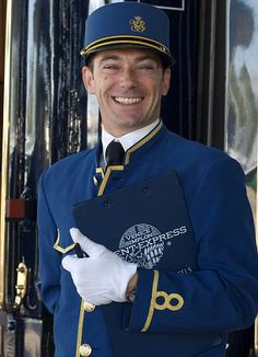 Orient Express bell boy is full of himself. He is overly friendly. So fake......