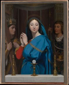 """""""The Virgin Adoring the Host""""  --  1852  --  Jean Auguste Dominique Ingres  --  French   --  Oil on canvas  --  The Metropolitan Museum of Art"""