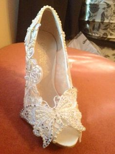 Lace, Butterfly and Dragonfly Custom Wedding Heels :)