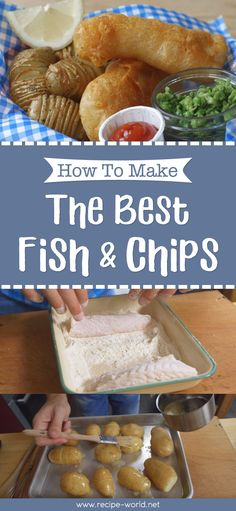 This recipe is a twist on the classic fish and chips. Instead of potato fries, the crispy beer battered fish is served with Hasselback potatoes. Fisher, Bacon Muffins, Best Fish And Chips, Fish And Chip Shop, Beer Battered Fish, Chips Recipe, Fish Recipes, Seafood Recipes, Yummy Recipes