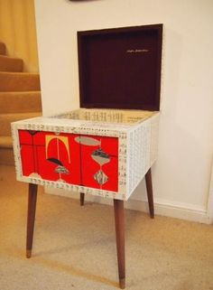 Picture of Upcycled 1950s Mid Dansette Storage Unit