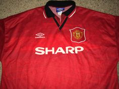 aca4aeae27a Sale Vintage Umbro MANCHESTER UNITED Soccer Jersey by casualisme Manchester  United Soccer, Football Shirts,