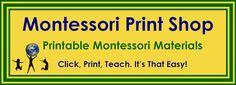Free Montessori Printables, with links to even more free printables.