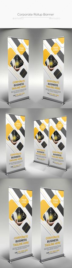 Corporate Rollup Banner by designsoul14 Fully layered Adobe Photoshop CS5 1 Layout Designs CMYK Color Mode 300 DPI Resolution Size 30x70 0.25 Bleed in E