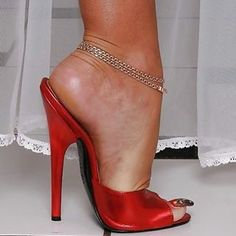 Super High Heels, Sexy High Heels, High Heels Stilettos, Stiletto Heels, Shoes Heels, Mules Shoes, Leg Chain, Ankle Chain, Beautiful Heels