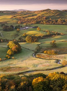 Autumn morning in Lake District, Cumbria, England