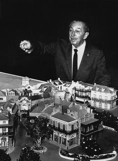 Walt and a model of New Orleans Square
