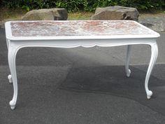 Couchtische - Tisch Couchtisch Marmorplatte Chippendale Shabby - ein Designerstück von Die-Ideenschmiede bei DaWanda