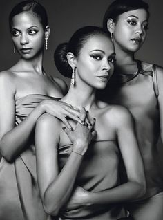 "Absolutely must buy the new ""W"" Magazine with Zoe Saldana and her sisters. Their article is titled ""Soul Sisters""-LOVE IT! My Black Is Beautiful, Black Love, Beautiful People, Beautiful Women, Beautiful Family, Zoe Saldana, Famous Sisters, Soul Sisters, Afro"