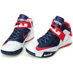 http://www.asneakers4u.com/ Nike Zoom Zoom LeBron Soldier 6 VI  USA Black/Blue/Red Sale Price: $76.10