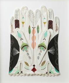 'Cosmic animal gloves' by Bunnie 'Bonnie' Reiss, contemporary US artist of Polish/Russian heritage Fashion Details, Boho Fashion, Fashion Design, Petite Fashion, Hijab Fashion, Korean Fashion, Womens Fashion, Fashion Tips, Caroline Reboux