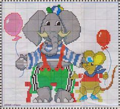 "My Corner, ""Elephant Graphics and mice in Cross Stitch"""