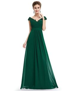 Aurora Bridal Vneck Chiffon Mother Bridesmaid Dress Evening Gown Green 18W * Details can be found by clicking on the image.