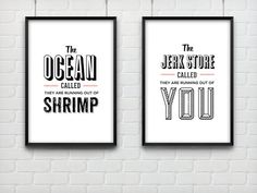 Typography Print Seinfeld Quote George Costanza Wall by paperchat