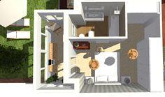 Vista general de dormitorio tipo suite ampliado.