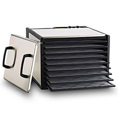 Excalibur  Stainless 9 Tray Dehydrator with Timer and Plastic Trays
