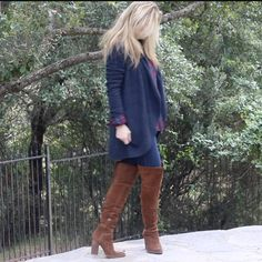 3bd579e3723 Barefoot Dreams Cardigan Dolce Vita Over The Knee Boots MsGoldgirl
