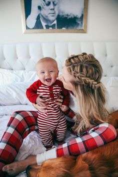 Totally cute! | Christmas Jammies Barefoot Blonde by Amber Fillerup Clark